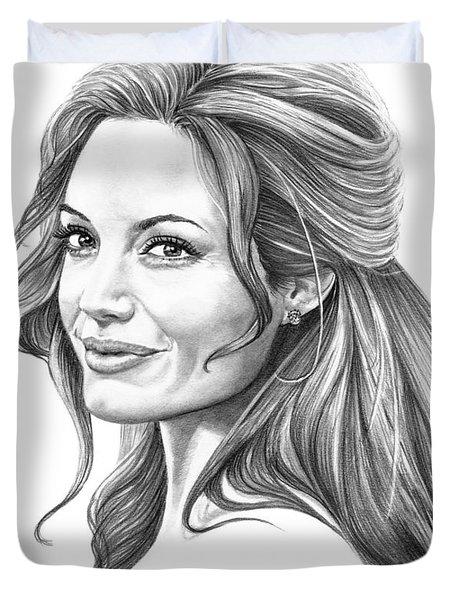 Angelina Jolie Duvet Cover by Murphy Elliott