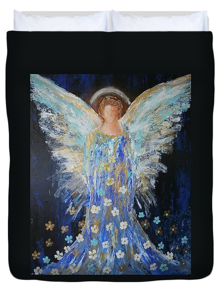 Angels Among Us Duvet Cover