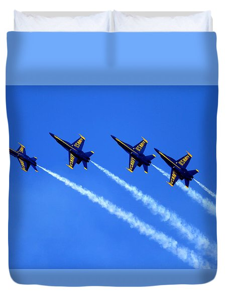 Duvet Cover featuring the photograph Angels Four by John King