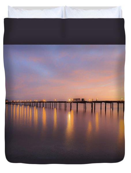Anna Maria City Pier , Anna Maria Island Sunrise  Duvet Cover