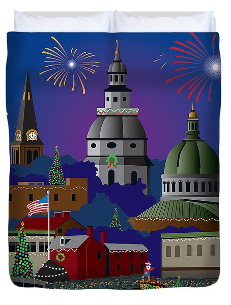 Annapolis Holiday Duvet Cover