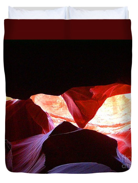 Antelope Slot Canyon - Astounding Range Of Colors Duvet Cover