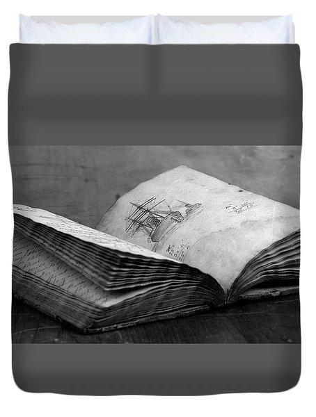 Antique Notebook Duvet Cover