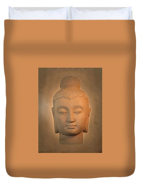 antique oil effect Buddha Gandhara. Duvet Cover by Terrell Kaucher