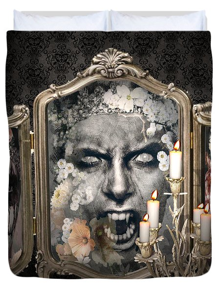 Antique Vampire Paintings Duvet Cover