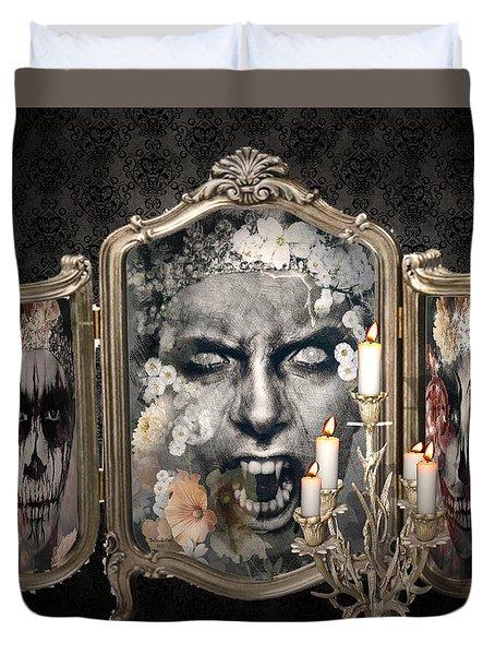 Antique Vampire Paintings Duvet Cover