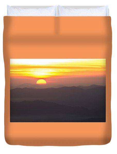 Duvet Cover featuring the photograph Appalachian Sunrise by Serge Skiba