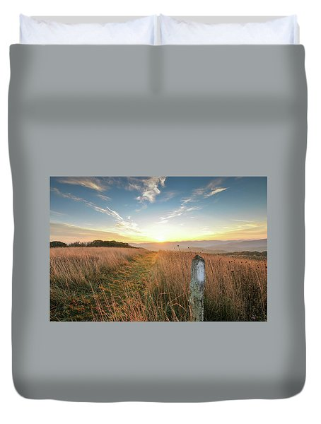 Appalachian Trail Sunrise Duvet Cover