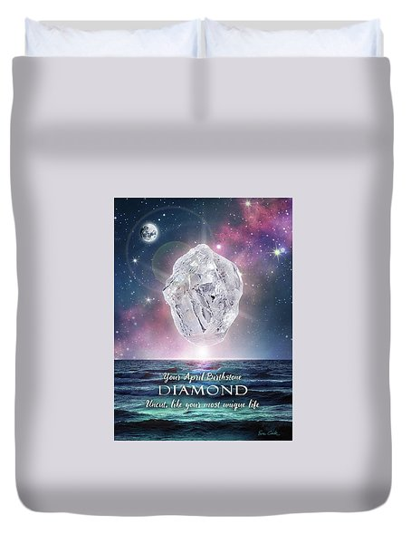 April Birthstone Diamond Duvet Cover
