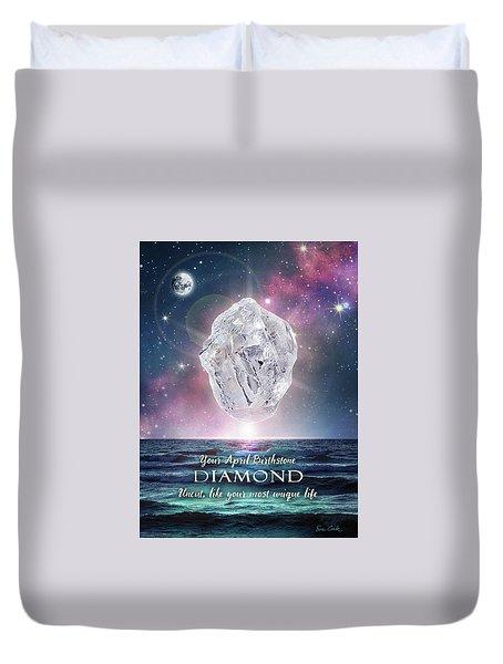 April Birthstone Diamond Duvet Cover