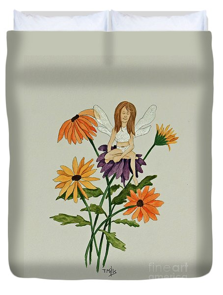 Duvet Cover featuring the painting April by Terri Mills