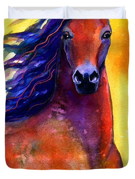 Arabian Horse 1 Painting Duvet Cover