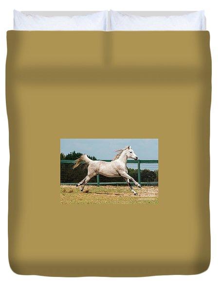 Arabian Horse Running Duvet Cover