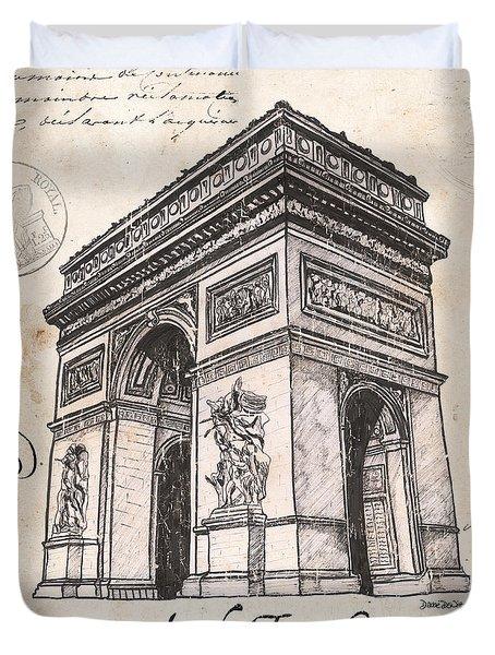 Arc De Triomphe Duvet Cover