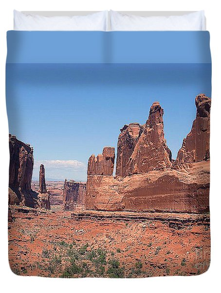 Arches National Park Panorama Duvet Cover