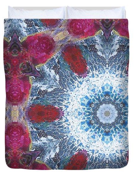 Arctic Blossom Duvet Cover