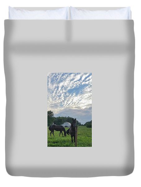 Are You Watching Me?? Duvet Cover