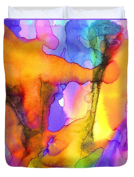 1 Art Abstract Painting Modern Color Signed Robert R Erod Duvet Cover
