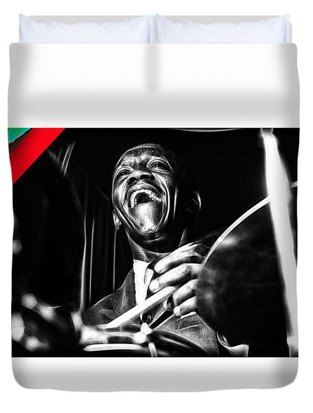 Art Blakey Collection Duvet Cover by Marvin Blaine
