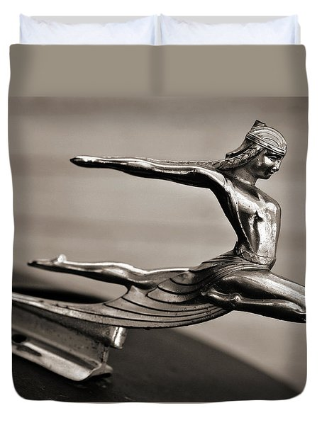 Art Deco Hood Ornament Duvet Cover by Marilyn Hunt