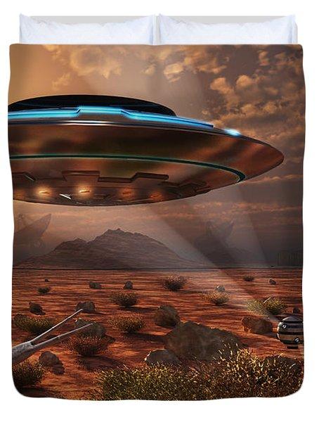 Artists Concept Of Stealth Technology Duvet Cover by Mark Stevenson