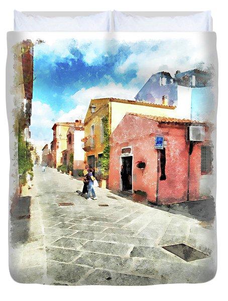 Arzachena Garibaldi Street Duvet Cover