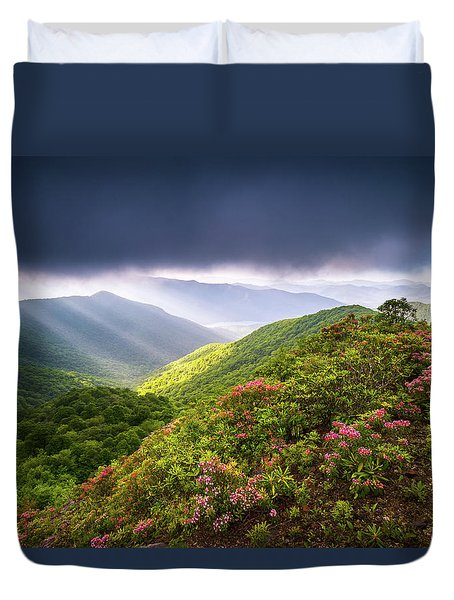 Asheville Nc Blue Ridge Parkway Spring Flowers North Carolina Duvet Cover