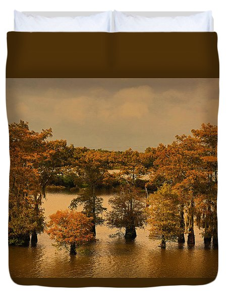 Atchafalaya Basin Duvet Cover by Ronald Olivier
