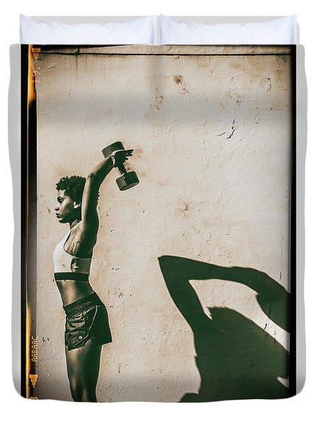 Athletic Woman Duvet Cover