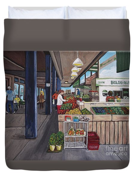 Atwater Market Duvet Cover