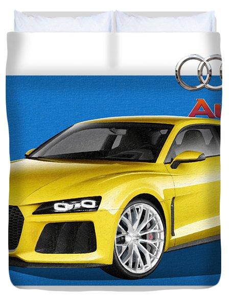 Audi Sport Quattro Concept With 3 D Badge  Duvet Cover