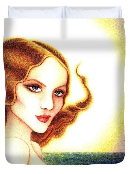 August Honey Duvet Cover