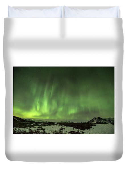 Aurora Borealis Or Northern Lights. Duvet Cover