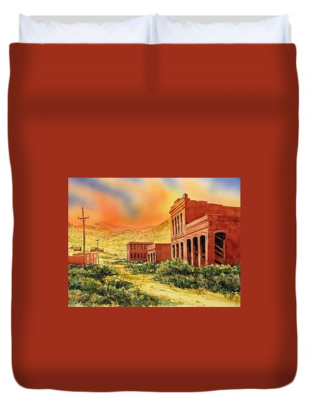 Aurora Ghost Town Nevada Duvet Cover by Kevin Heaney