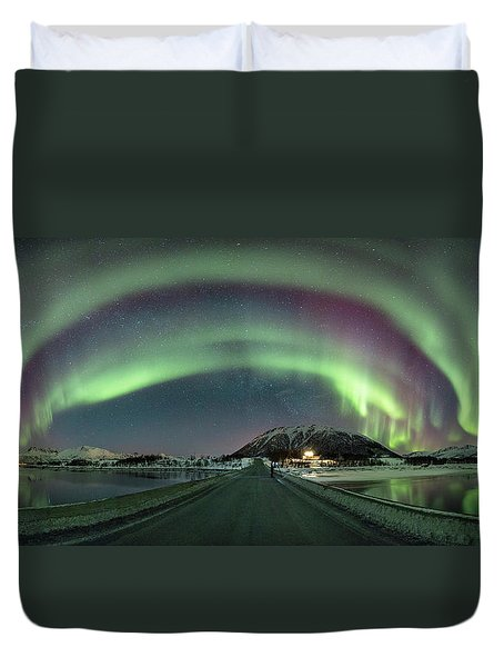 Aurora Panoramic Duvet Cover