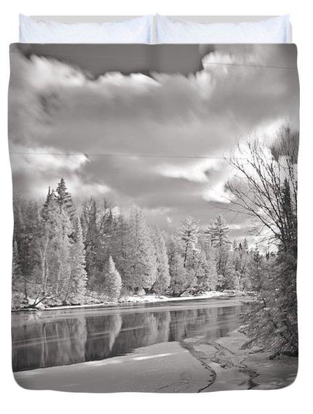 Ausable River Infrared 6283 Duvet Cover