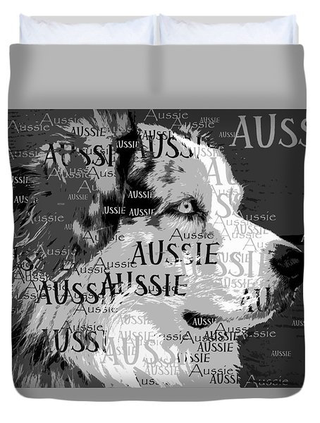 Aussie Duvet Cover by Nancy Merkle