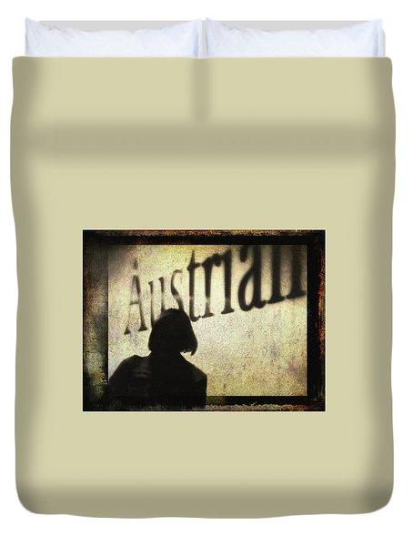 Austrian Silhouette Duvet Cover by Siegfried Ferlin