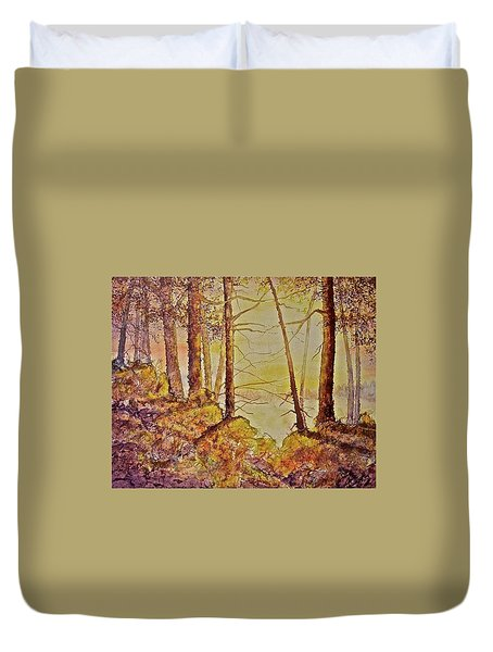 Autumn Glow Duvet Cover by Carolyn Rosenberger