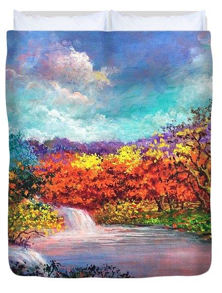 Autumn In The Garden Of Eden Duvet Cover