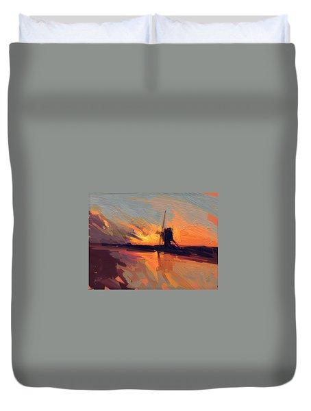 Autumn Indian Summer Windmill Holland Duvet Cover by Nop Briex