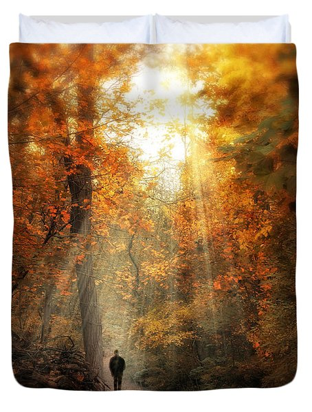 Autumn Meditation Duvet Cover by Jessica Jenney