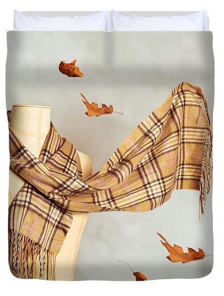 Autumn Scarf Duvet Cover