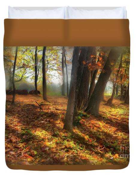 Autumn Shadows In The Blue Ridge Ap Duvet Cover by Dan Carmichael
