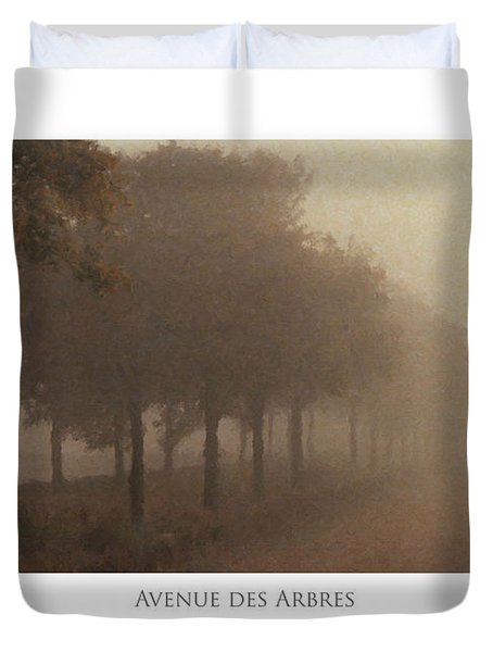 Duvet Cover featuring the digital art Avenue Des Arbres by Julian Perry