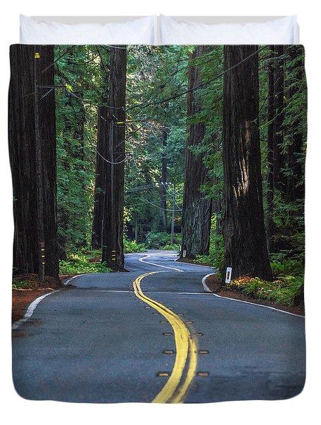 Avenue Of The Giants Duvet Cover