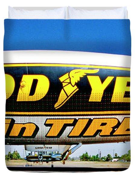 My Goodyear Blimp Ride Duvet Cover