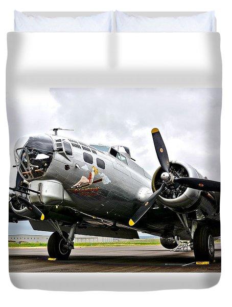 B-17 Bomber Airplane  Duvet Cover