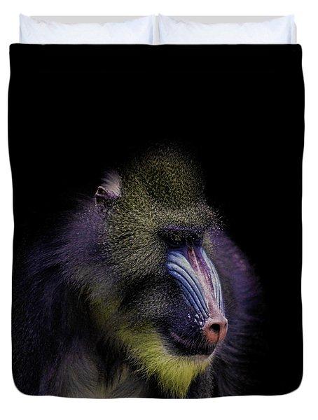 Baboon Portrait Duvet Cover