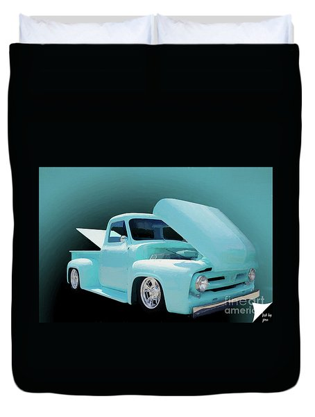 Duvet Cover featuring the photograph Baby Blue 2 by Jim  Hatch
